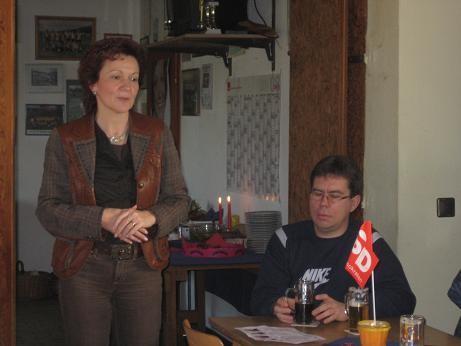 Sabine Tippelt im Sportheim Ammensen