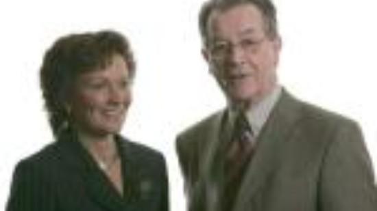Sabine Tippelt mit Franz Müntefering